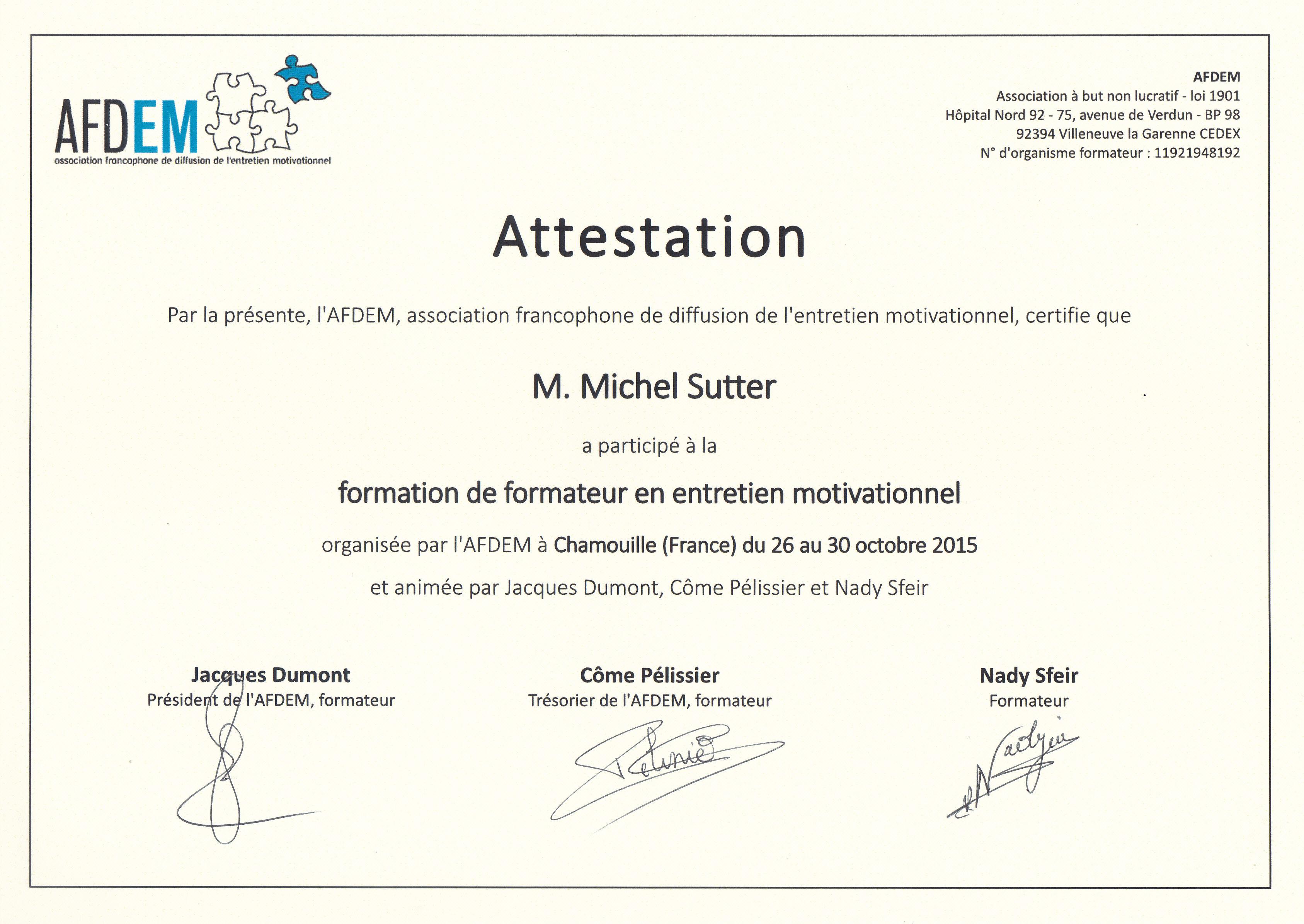 Formation de formateurs en entretien motivationnel - Attestation de tva 10 ...